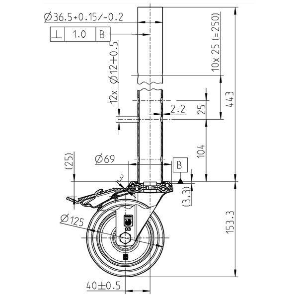 GDA250 Verstellbare Rolle