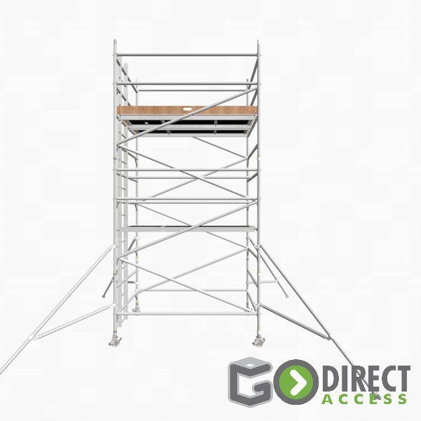 GDA500-DW Alu Baugerüst 4m (6m Arbeitshöhe)