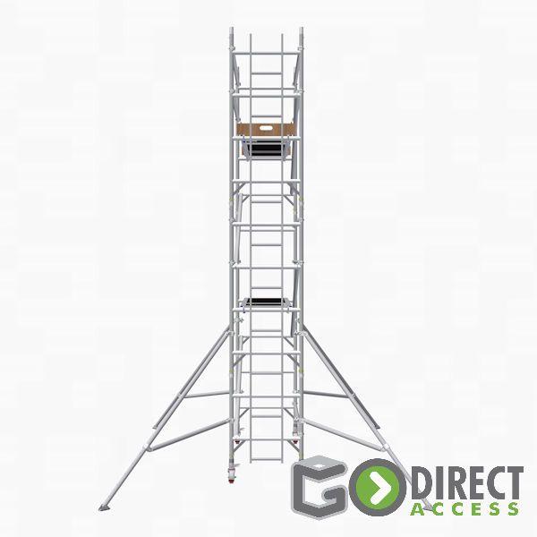 GDA500-SW Alu Baugerüst 4 m (6 m Arbeitshöhe)