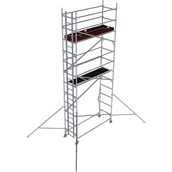GDA500-SW Alu Baugerüst 5 m (7 m Arbeitshöhe)