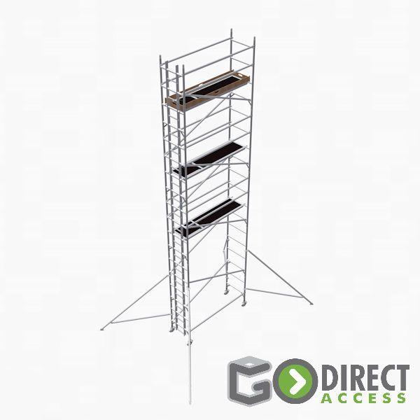 GDA500-SW Alu Baugerüst 8 m (10 m Arbeitshöhe)
