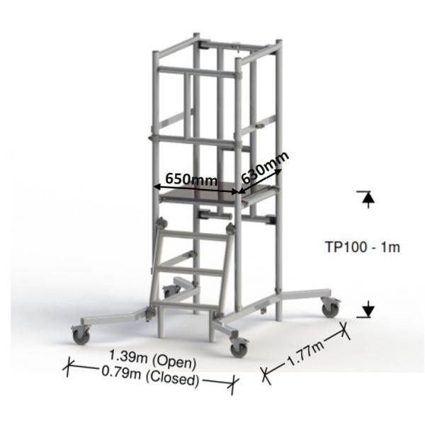 Podestleiter TP100 1M (3M Arbeitshöhe)
